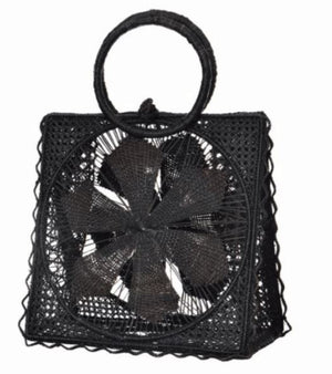 Magnolia Basket Bag - Black