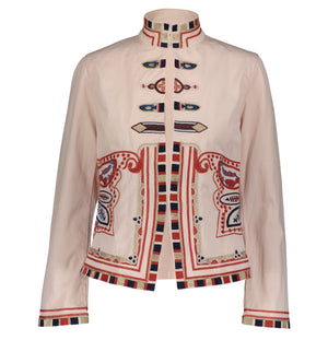 CAROLA EMBROIDERED JACKET PALE PINK