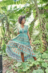 ISMIR DRESS TURQUOISE & MULTI