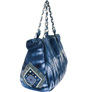 Daniela Denim Tote - Blue