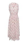ALESSANDRA MAXI DRESS WHITE & PINK