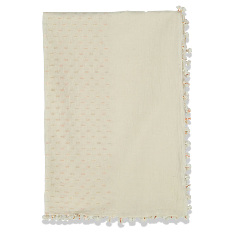 DROPS PAREO SHAWL WHITE GOLDS