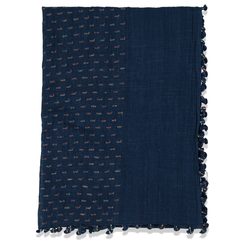 DROPS PAREO SHAWL DENIM GOLDS