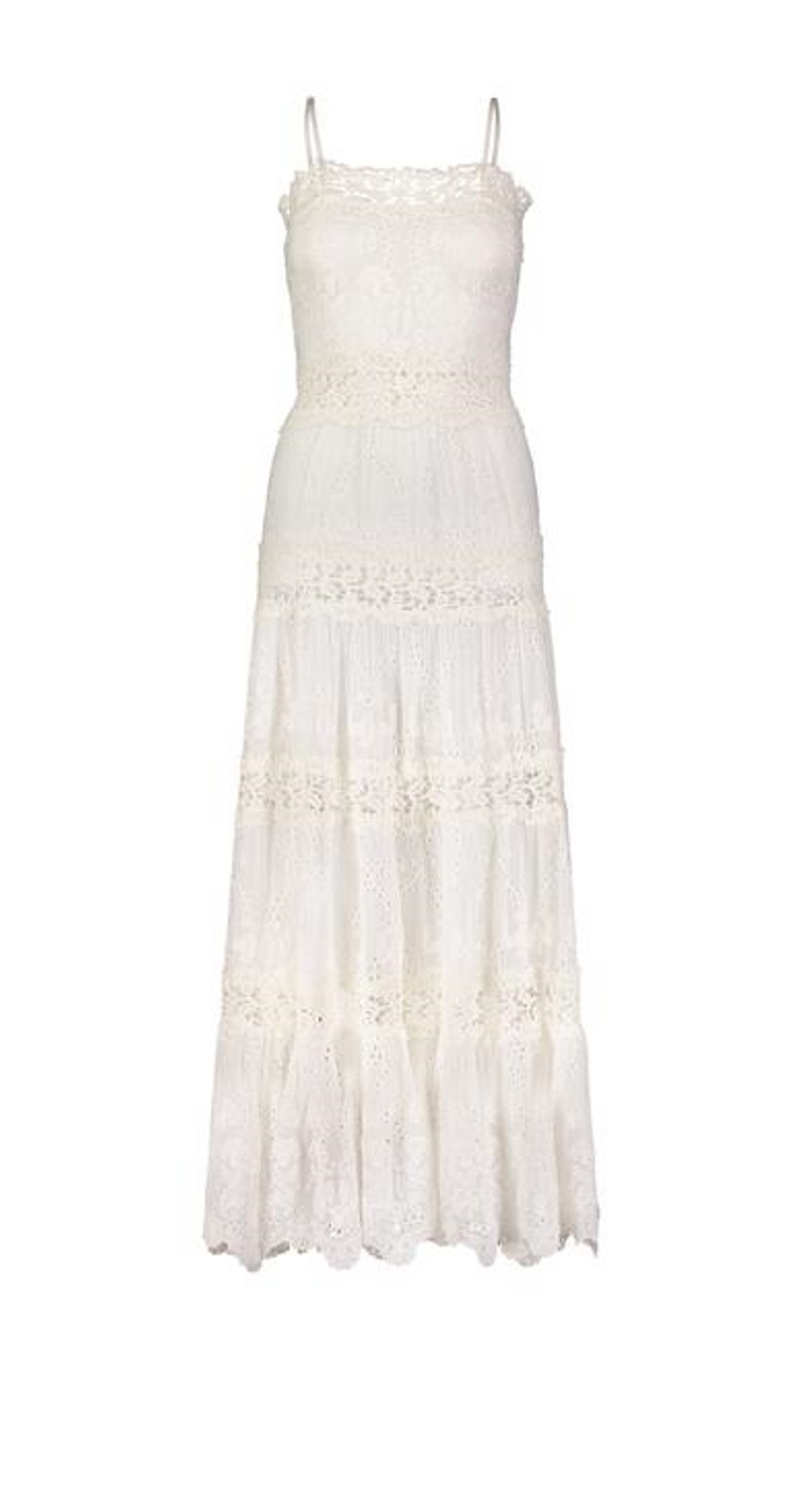 VICKY STRING DRESS OFF WHITE