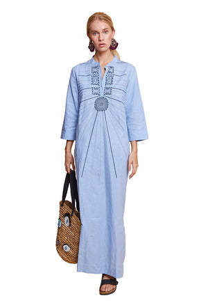 SAMARA LONG TUNIC BLUE
