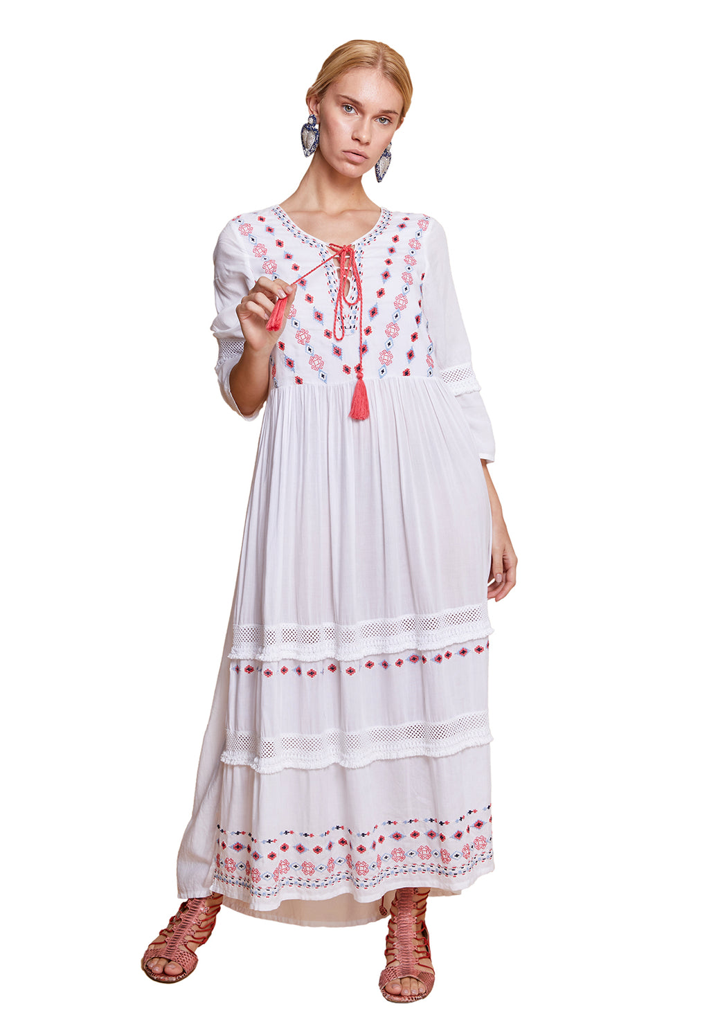 GRACIE MAXI DRESS WHITE