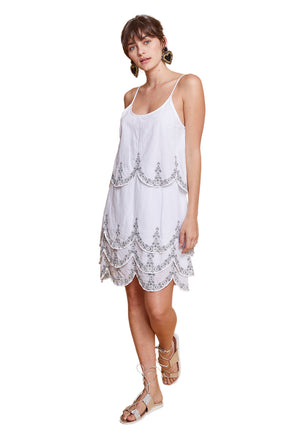 MARIANNE MINI DRESS WHITE