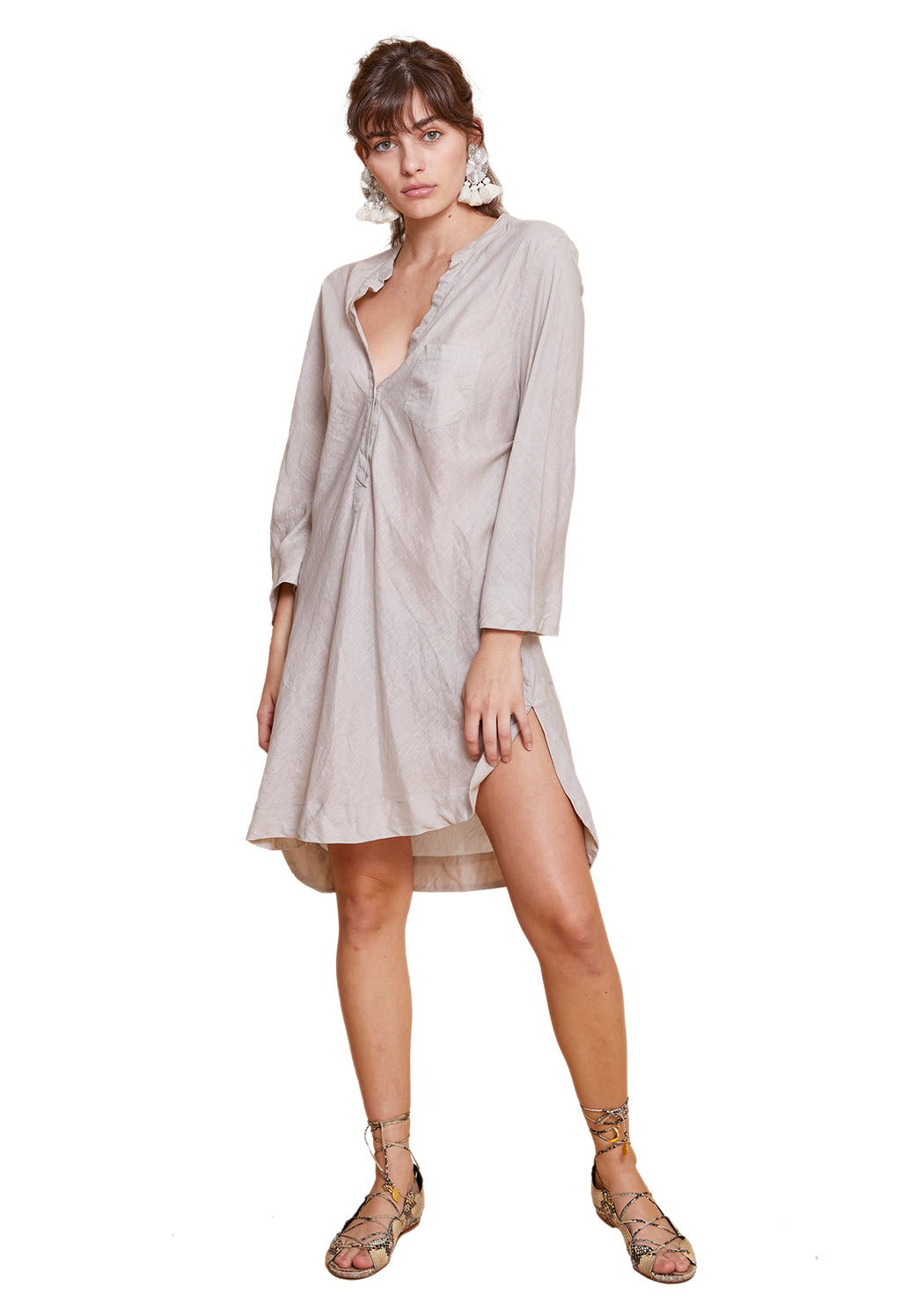 FLAVIA SHIRT DRESS BEIGE