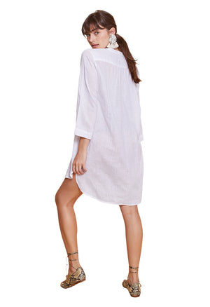 POPPY SHIRT DRESS WHITE
