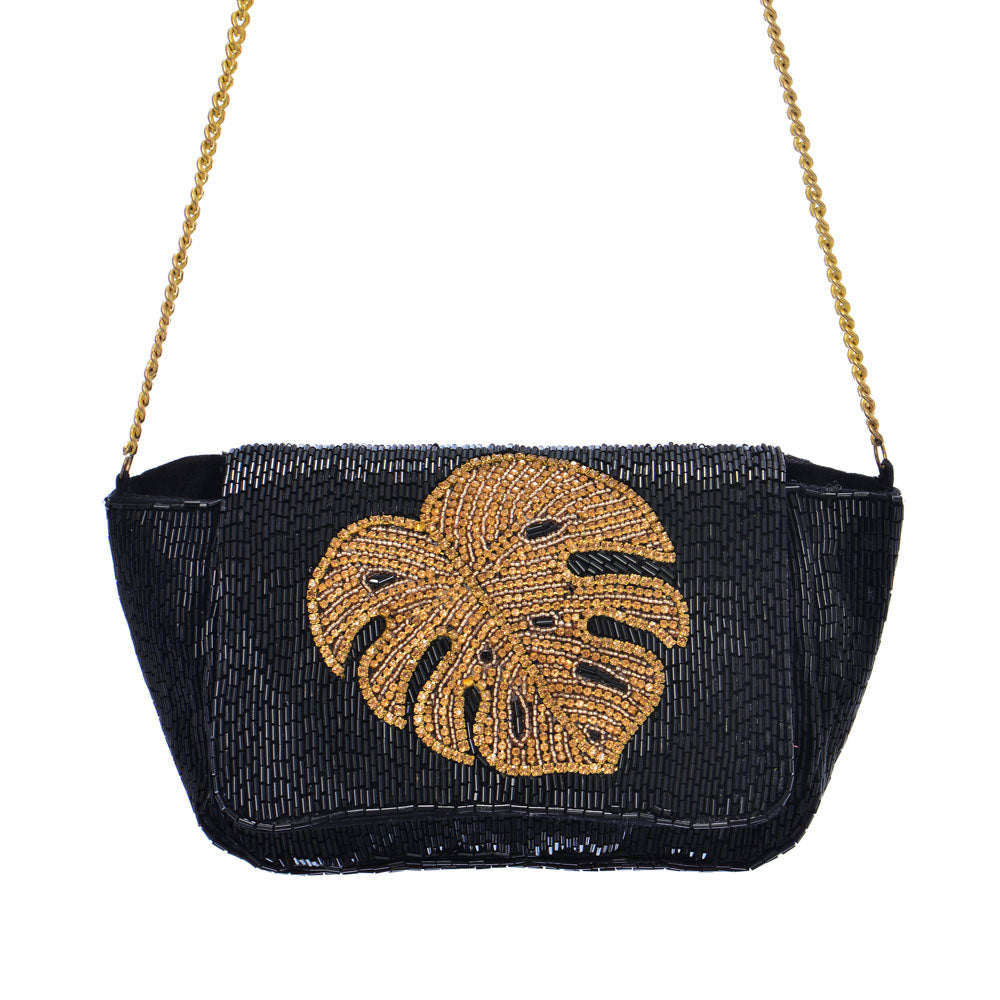 Gold Leaf Bag - Black