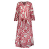 IKAT LONG KAFTAN  RED