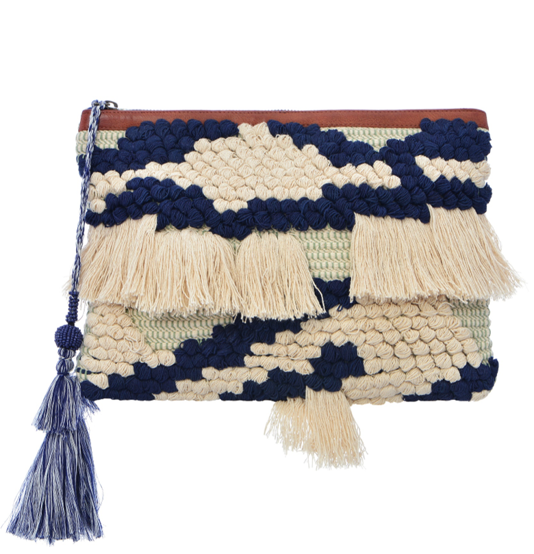 Majorca Clutch - Navy Blue