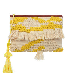 Majorca Clutch - Lime Yellow