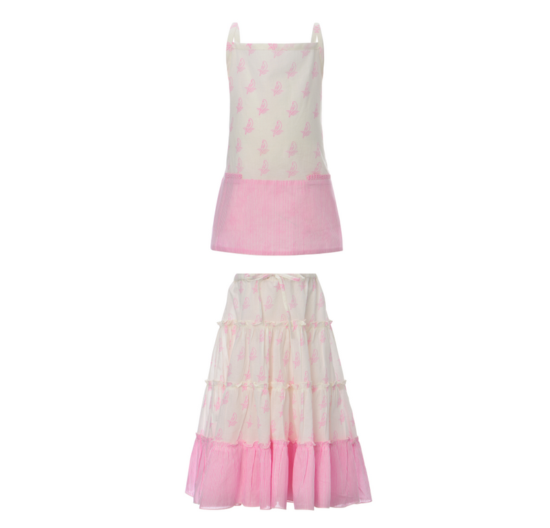 MIA PARROT TOP + AMAZON SKIRT | PINK