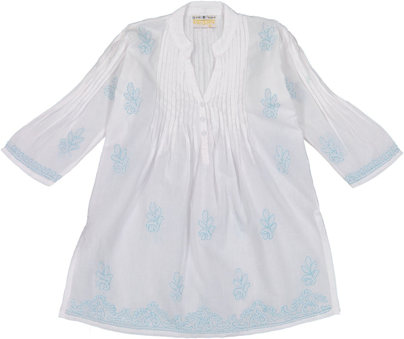 Margarita Pleatted Tunic - Turquoise