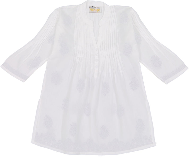 Margarita Pleatted Tunic - White