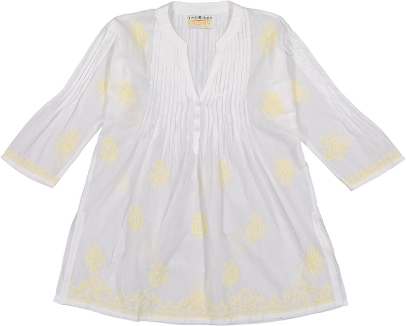 Margarita Pleatted Tunic - Yellow