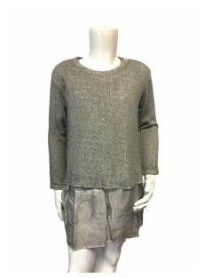 MARINA COTTON KNIT DRESS  | GREY