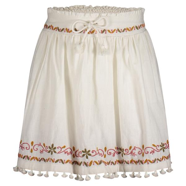 MICAELA EMBROIDERED SKIRT | WHITE