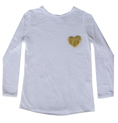 My Heart/Star Sequin Pocket Shirt