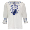 ORI EMBROIDERED TUNIC | WHITE/BLUE