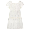 PHOEBE PALM DRESS SILVER