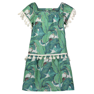 PHOEBE FOREST DRESS GREEN