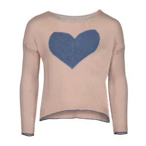 PICCOLA HEART SWEATER | ROSE