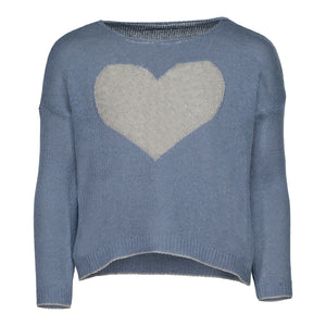 PICCOLA HEART SWEATER | CORAL