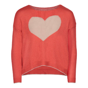 PICCOLA HEART SWEATER | BLUE