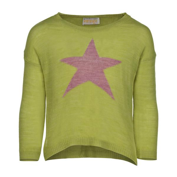 PICCOLA STAR SWEATER | GREEN