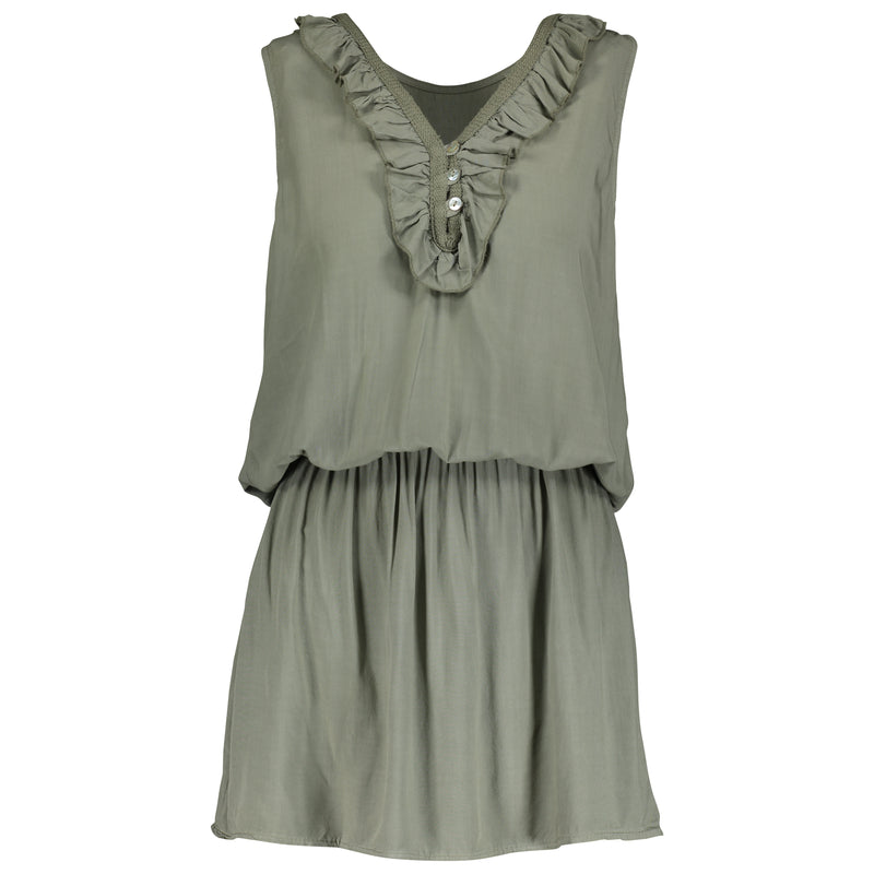 Rosana Ruffle Dress - Green