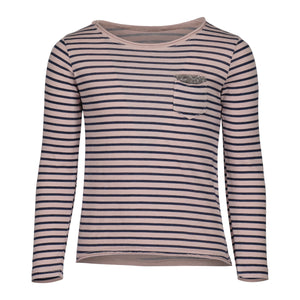 SANDY STRIPED T-SHIRT | PINK