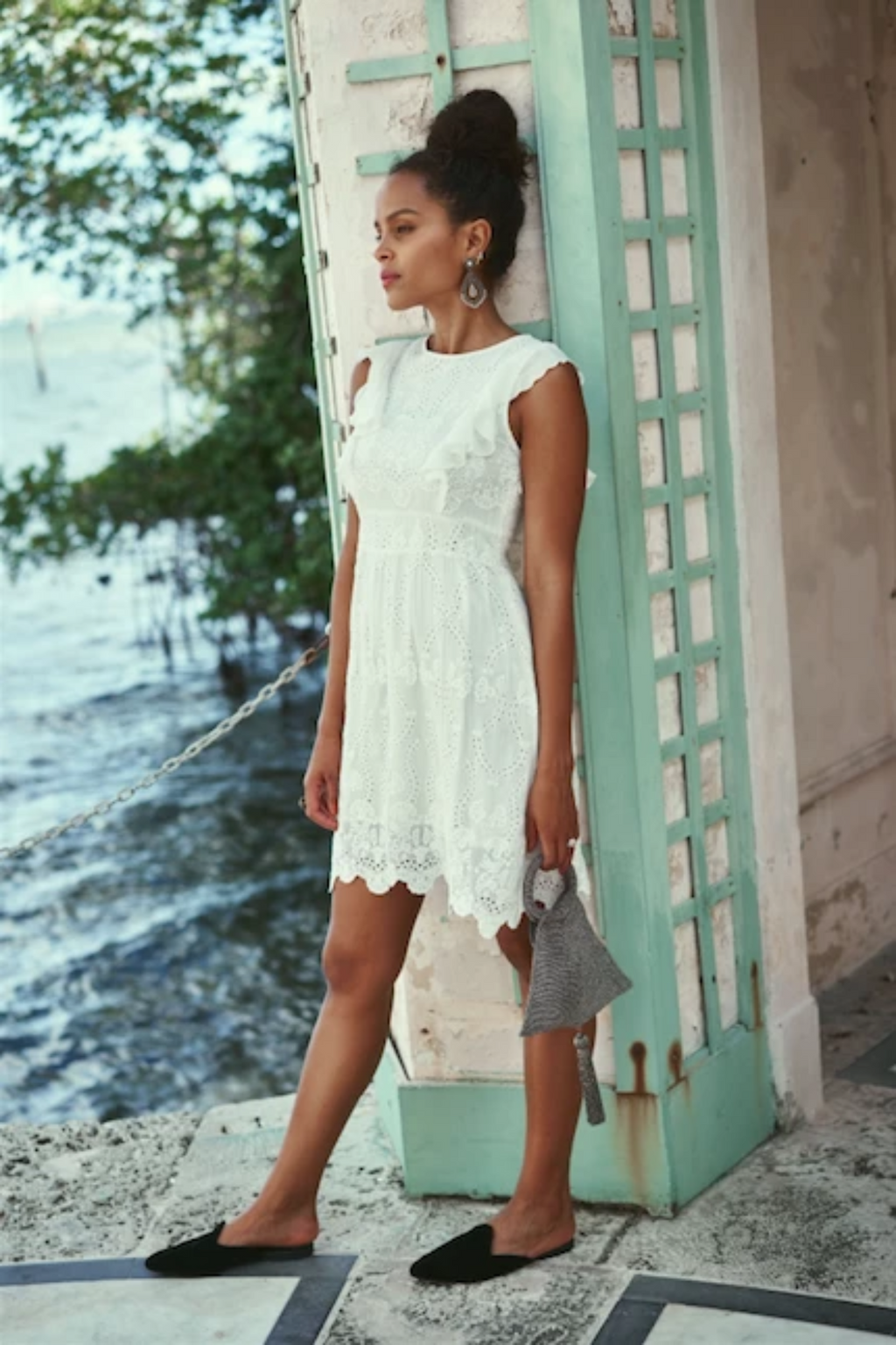 CASTEL SHORT DRESS OFF WHITE
