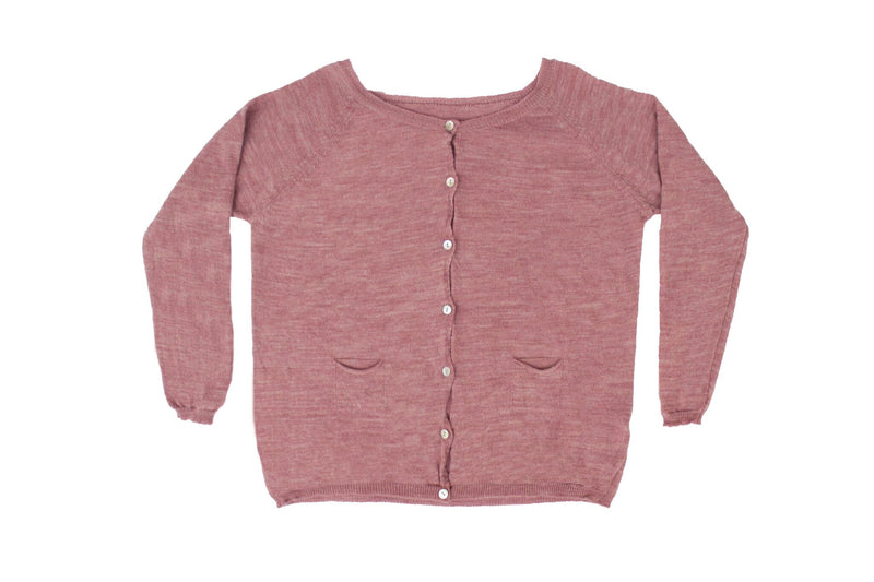MIA COTTON KNIT CARDIGAN - PINK
