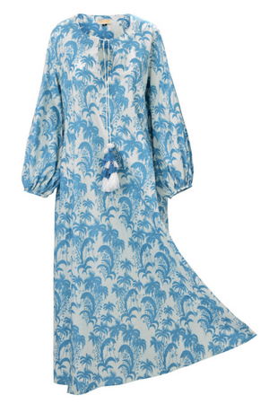 PACIFICA PALMS TUNIC BLUE SKY