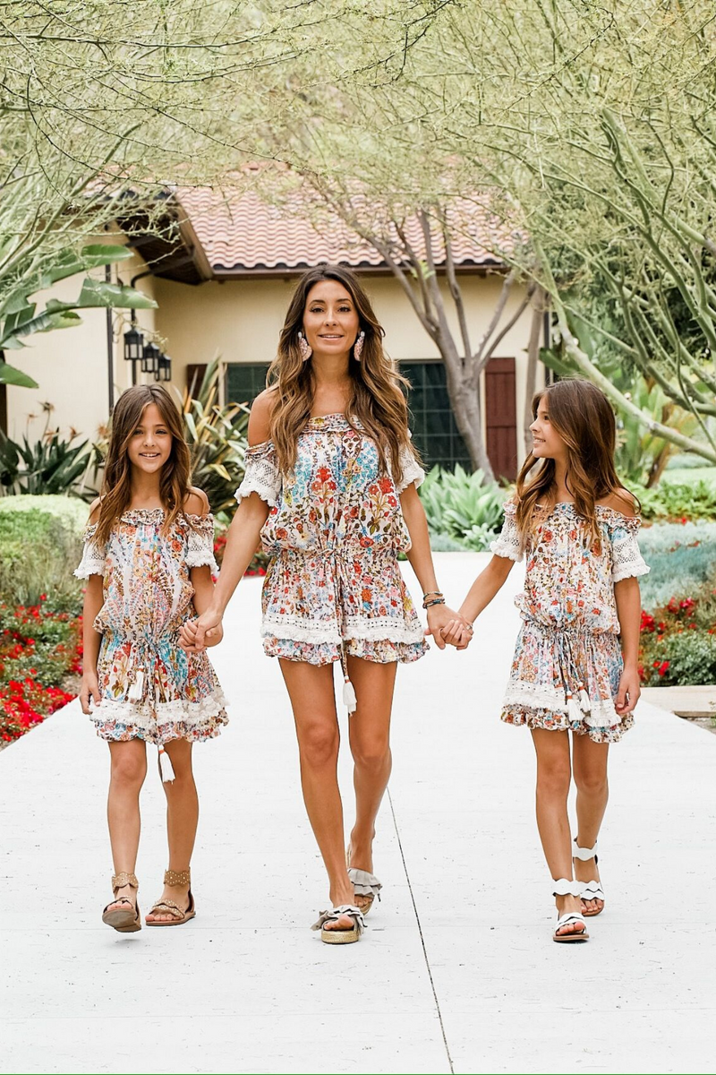 FRANCESCA FLORAL DRESS MULTI - MINI