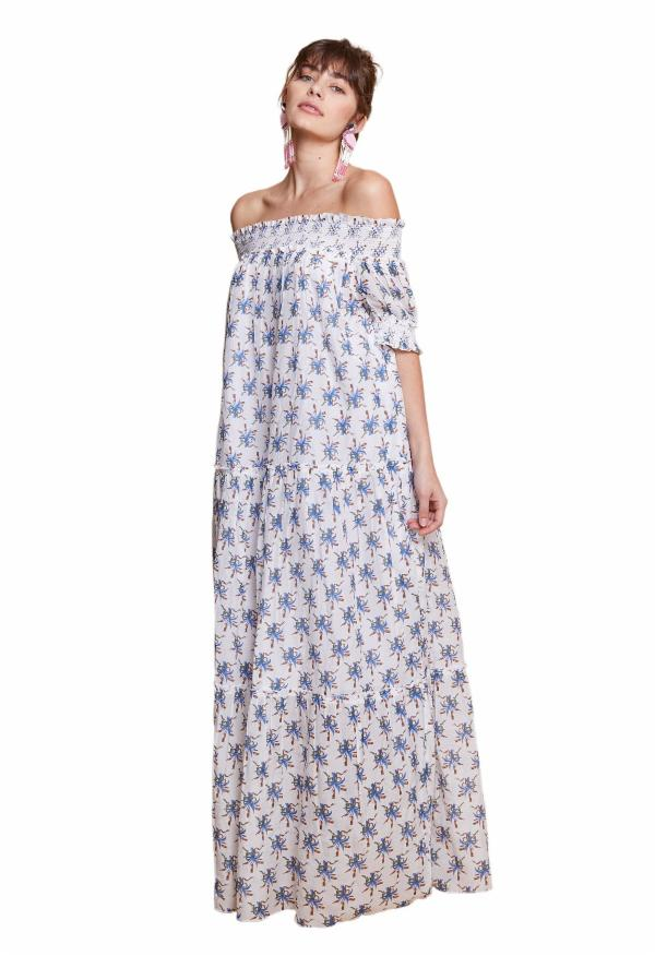 Alexis Of The Shoulder Maxi Dress