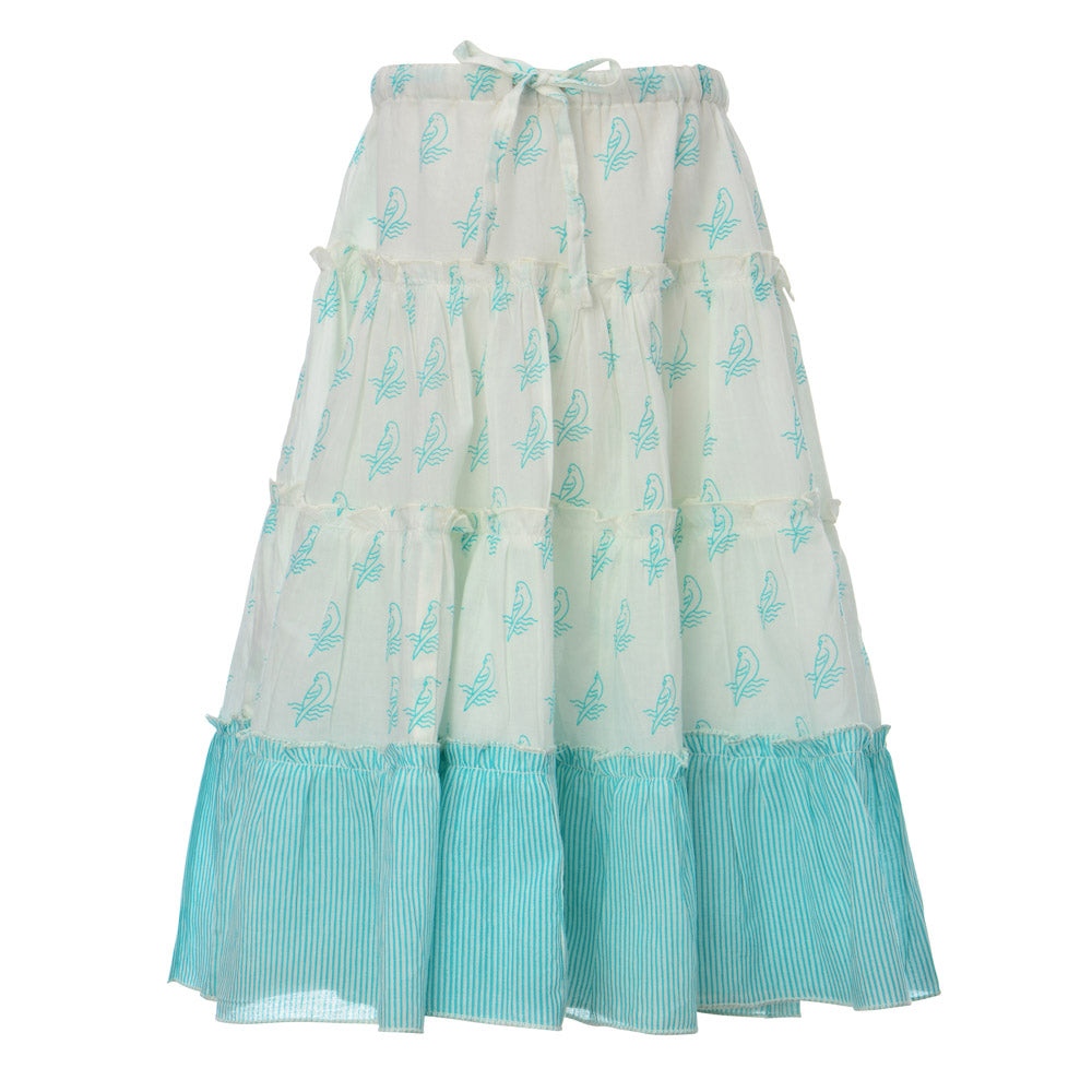 AMAZON SKIRT | TURQUOISE