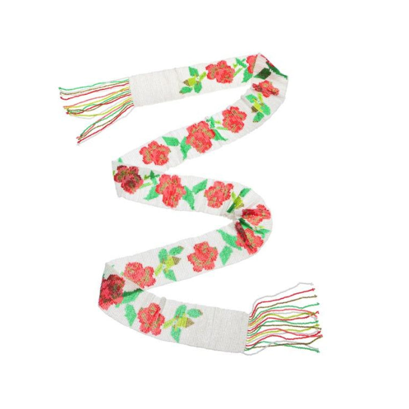 Eden Rose Belt - White