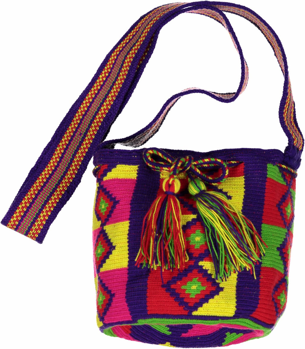 Wayuu Mochila Mini Bag | Blue/Multi-Color