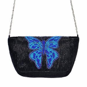 Blue Butterfly Bag - Black