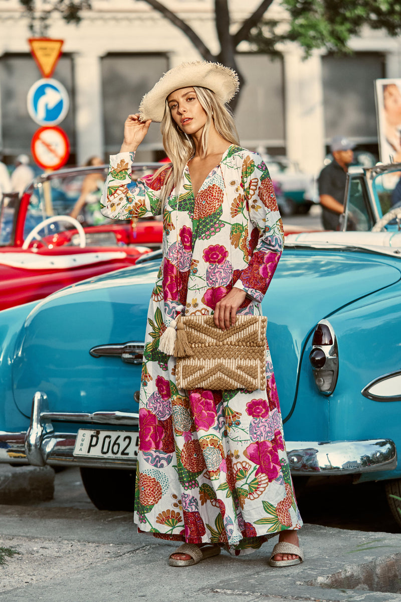 FLOWER LONG KAFTAN