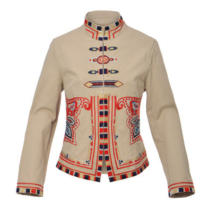 Carola Embroidered - Khaki