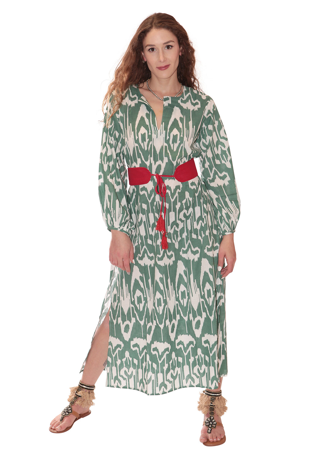 IKAT GREEN TUNIC GREEN
