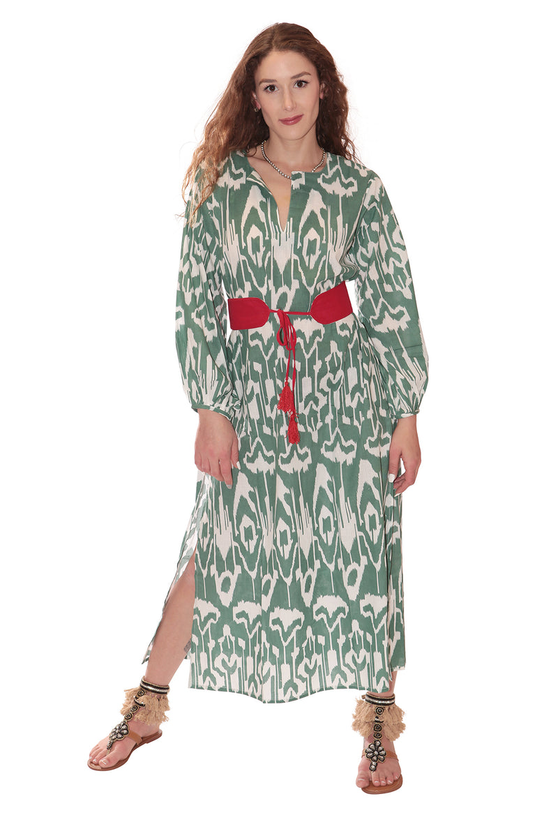 Ikat Green Tunic