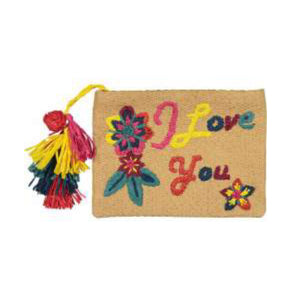 I love You Pouch - Natural / Multi