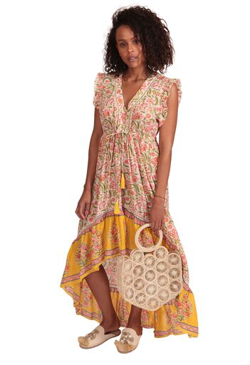 MILA DRESS YELLOW & MULTI