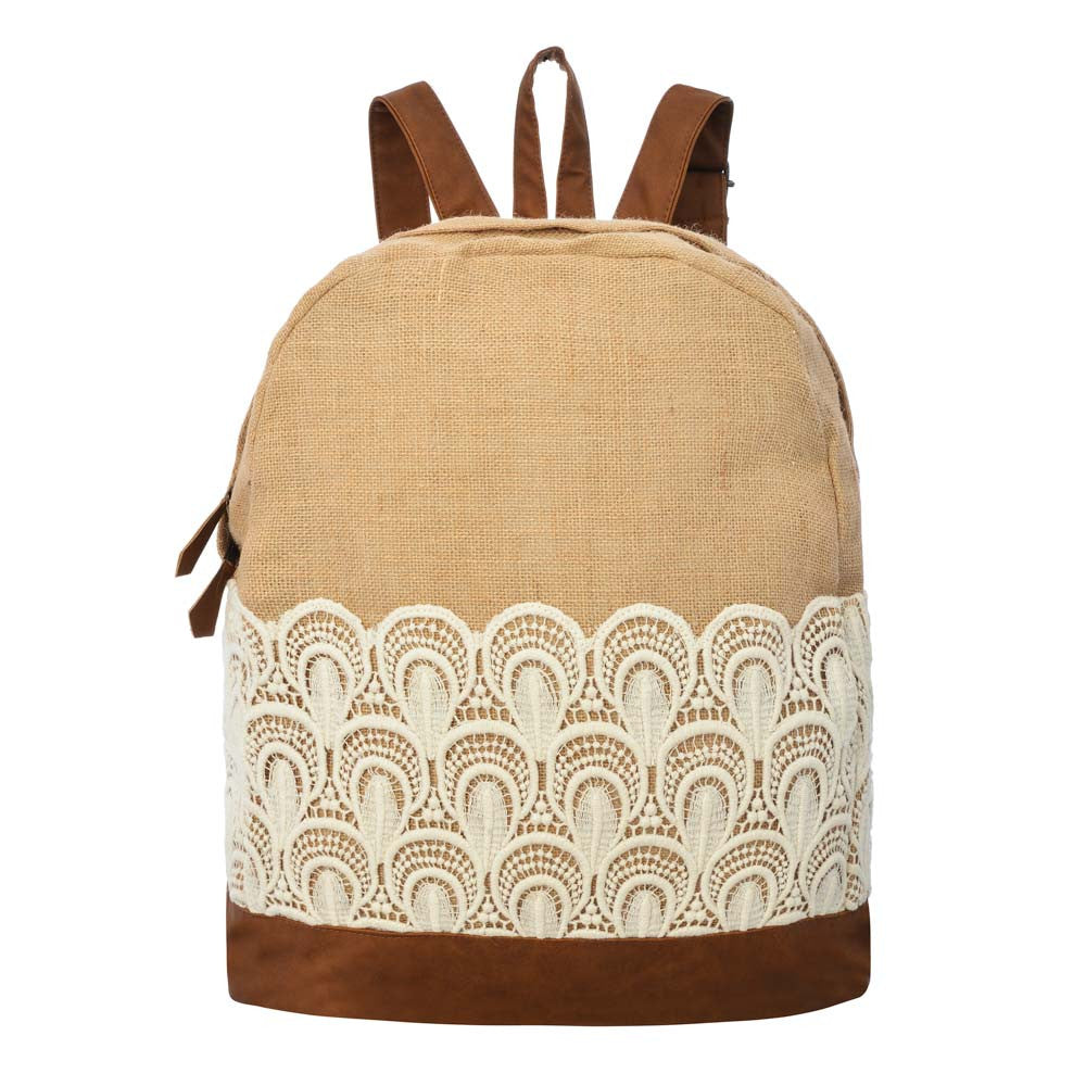 Crista Jute Backpack - Natural