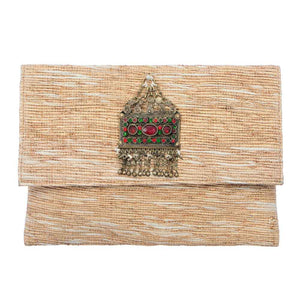 Akinyi Brooch Clutch - Gold
